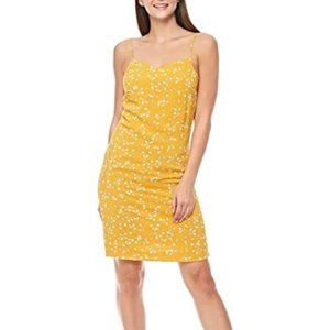 ICHI summer dress flowers yellow size 42